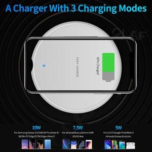 Image 4 - 10W hızlı kablosuz şarj için iphone 11 8 artı Qi kablosuz şarj pedi Samsung S10 Huawei P30 Pro telefon şarj adaptörü