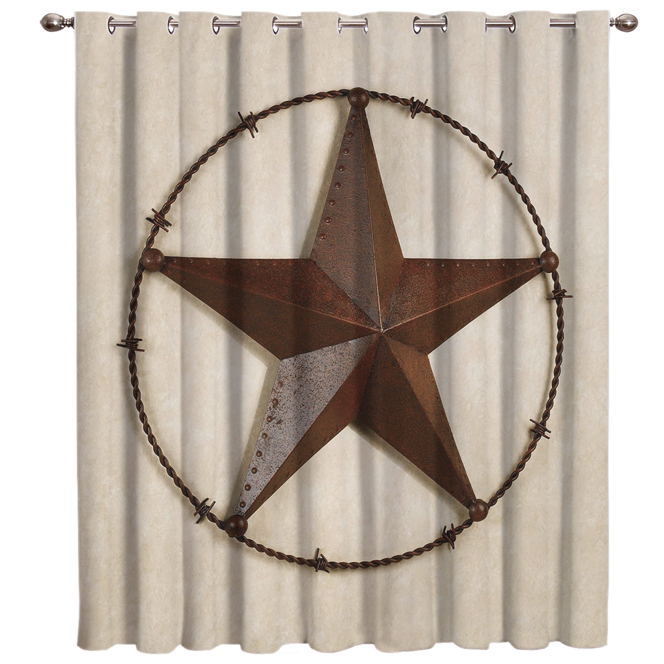 Texas Lone Star Country West Window Treatments Curtains Valance Window Blinds Living Room Decor Bathroom Curtains Outdoor
