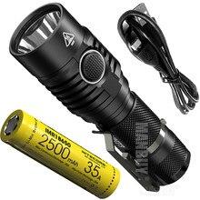 Ücretsiz kargo NITECORE 1800 lümen MH23 IMR18650 şarj edilebilir pil 2500mAh CREE XHP35 HD LED meşale su geçirmez Mini el feneri