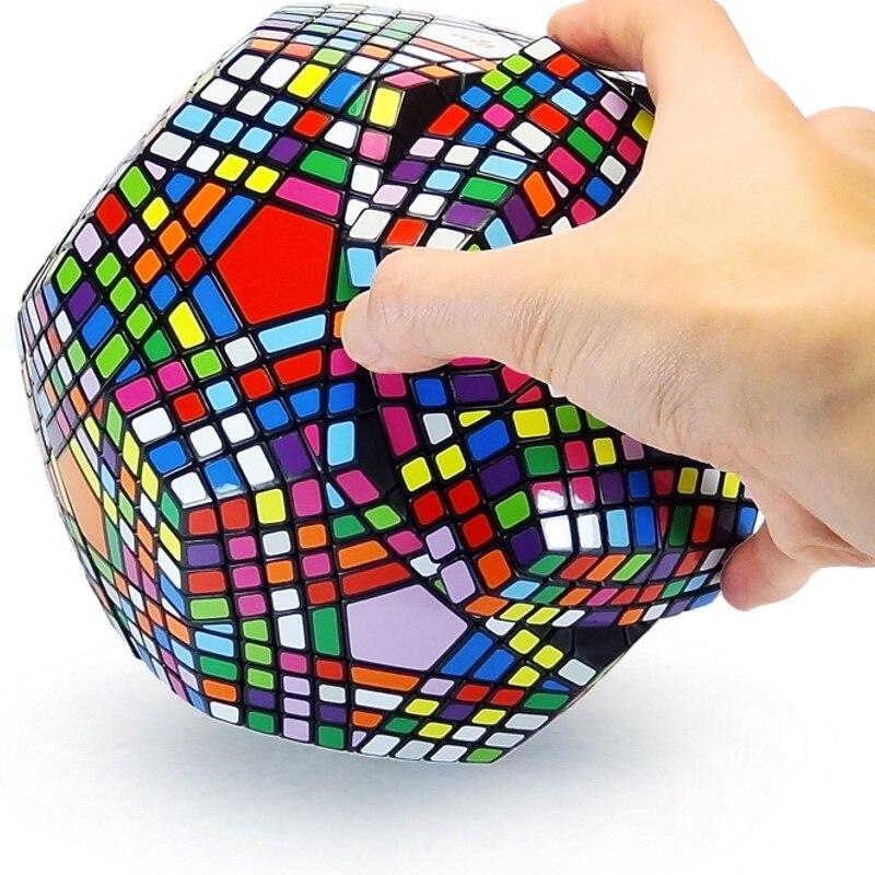 Collection MF8 Petaminx puzzle de Cube magique collée recueilli dodécaèdre 9x9 vitesse puzzle magique collection megaminxsed cube
