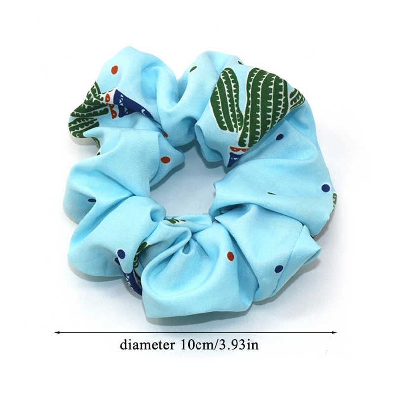 סרט אלסטי קוריאה אופנה קקטוס הדפסת Hairbands אביזרי שיער לנשים/ילדה שיער גומיית קוקו שיער פצפוצי