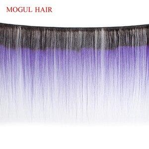 Image 4 - モーグル髪オンブル 1B 赤青緑紫ストレートヘア織りバンドルブラジル髪 1 個レミーヘアエクステ 12 26 インチ