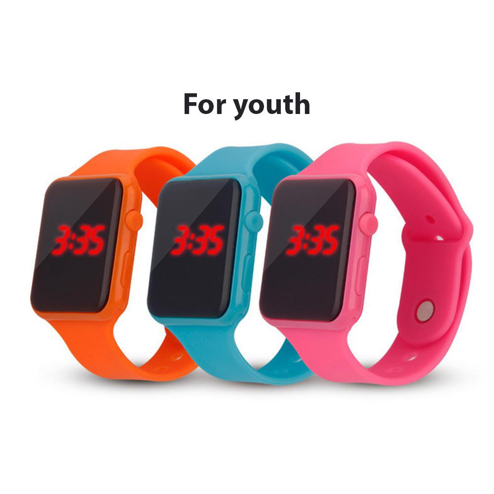 Electric LED Wristwatch Silicone Band Digital Display Watch Gifts For Boys And Girls