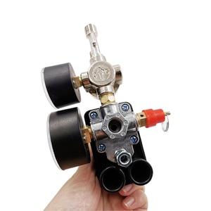Image 5 - Válvula de controle de pressão, regulador ac de 240v, bomba compressora de ar resistente, interruptor de controle de pressão de 4 portas, válvula de controle de bomba de ar 90 120psi com medidor de calibre,