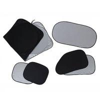 6 pçs dobrável silvering reflexivo janela do carro sol sombra viseira escudo capa|Quebra-sol| |  -