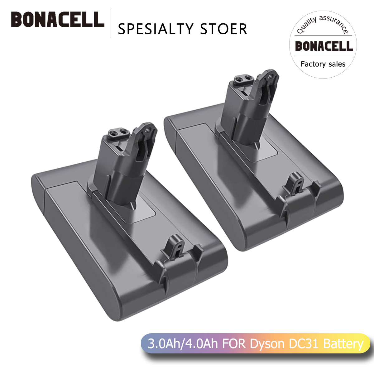 Bonacell 22.2V 4000mAh DC31 ( Only Fit Type B ) Battery For Dyson DC31 DC35 DC44 DC45 Series Cordless Vacuum Cleaner Li-ion L30