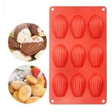 Moule à gâteau à Dessert en Silicone à 9 cavités, de qualité alimentaire, en forme de coquille, pour bonbons, poêle à pâtisserie, outils de cuisson