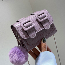 Crocodile pattern Mini Square Crossbody bag 2020 Fashion New High quality Leather Women's