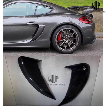 981 High Quality Carbon Fiber Side Vents Car Modification Side air-in-take for Porsche 981 Cayman GT4 style image