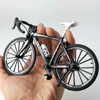 Nowy mini 1 10 Alloy Model rowerowy odlewany Metal Finger Mountain bike Racing symulacja kolekcja dla dorosłych prezenty zabawki dla dzieci tanie i dobre opinie Muwanzhi Mwz-1 Keep away from fire 21*7*14 cm Finger rowery