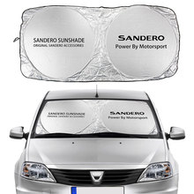 Car Windshield Sun Shade Cover For Dacia Sandero Stepway R4 Xplore Streetway Auto Accessories Anti UV Reflector Visor Protector