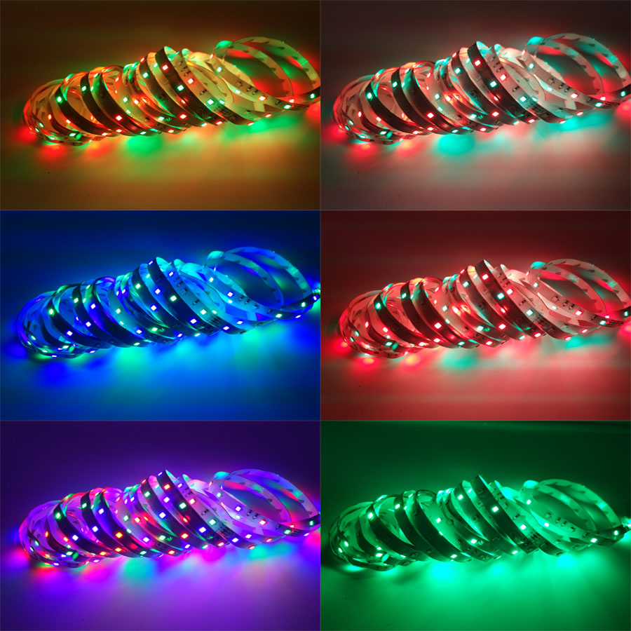 Hb248f8327e0343eeacc806d89777df17W BEKCMTH RGB LED Strip Light SMD2835 5050 5M 10M Waterproof RGB Tape DC12V Ribbon diode led Strips Lamp with IR Remote Controller