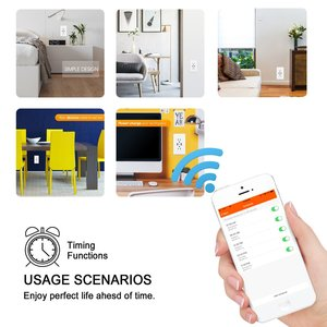 Image 5 - WiFi Smart Wall Socket US Wireless Electric Plug Outlets Touch Panel Control Homekit Duplex Receptacle Work by Alexa Google Home