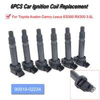 6pcs Ignition Coil (90919 02234) for Toyota Avalon Camry Lexus ES300 RX300 3.0L