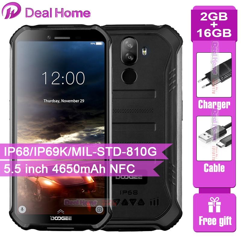 Фото. IP68 DOOGEE S40 Lite четырехъядерный 2 ГБ 16 ГБ Android 9,0 прочный мобильный телефон 5,5 дюймов дис