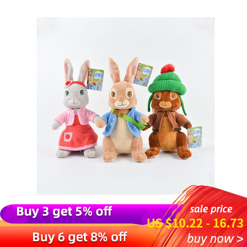 SAILEROAD 30/46cm Cartoon Rabbit Plush Soft and lovely Animal Rabbit Stuffed Toys for Infants Baby's Companions Gift