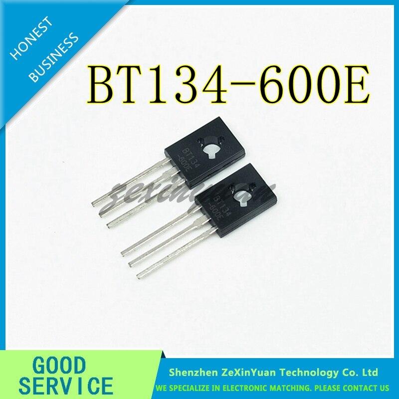 50PCS/LOT BT134-600E BT134-600 BT134 600V 4A TO-126 THREE TERMINAL BIDIRECTIONAL THYRISTOR BIDIRECTIONAL THYRISTOR