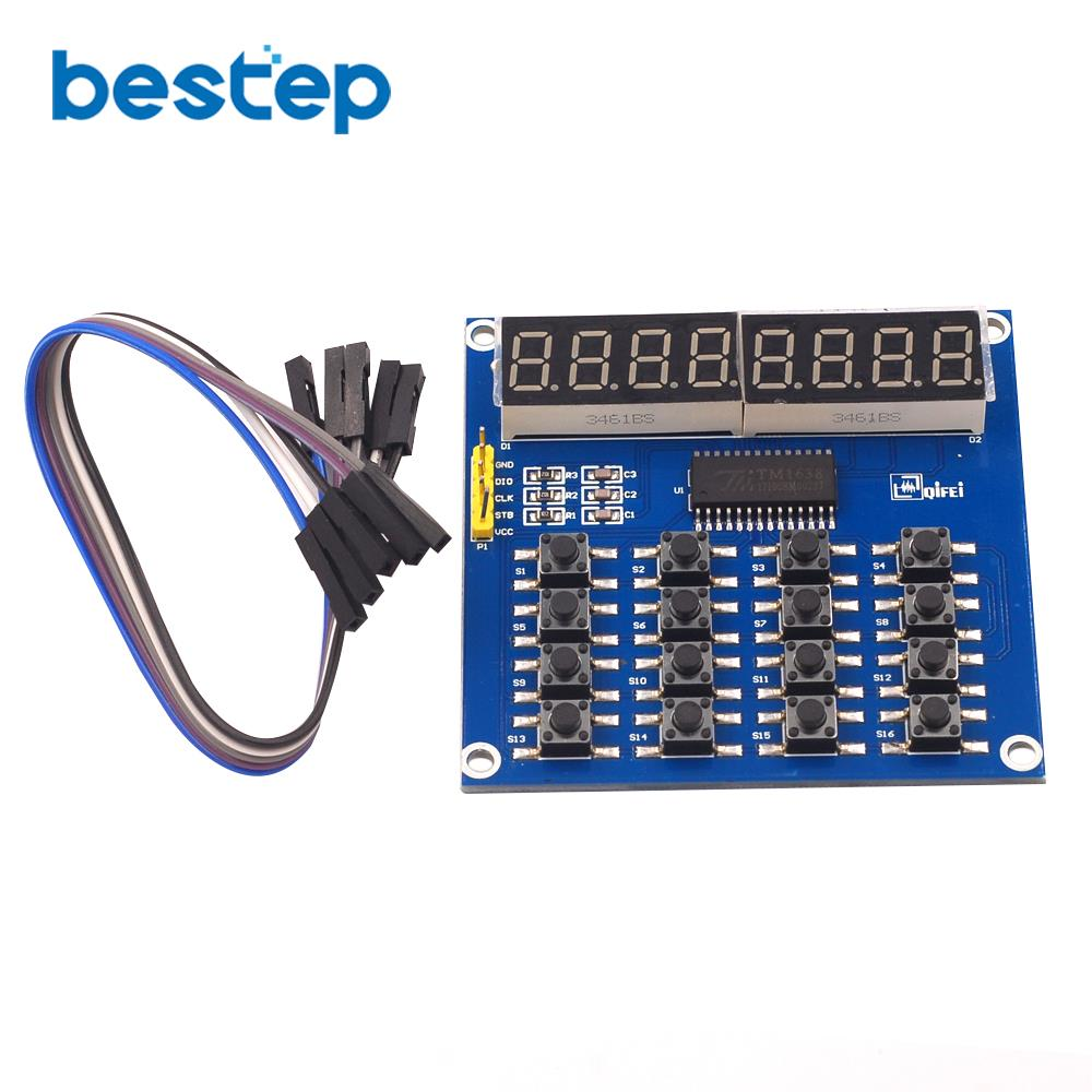5PCS TM1638 8-Bit LED 8-Bit Digital Tube 8 Keys Display module  Arduino M59