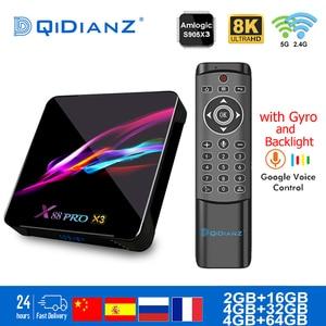 Smart TV BOX x88pro x3 Android 9.0 8K Dual Wifi BT Netflix Media player Play Store Free App Fast Set top BOX PK HK1MAX H96