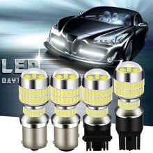 Carro LEVOU T20 7443 78SMD 2X 4014 LED T20 W21W 1156 BA15S T25 1157 DC12V BAY15D 3157 3156 Lâmpadas LED Sinal de Volta Luz Reversa