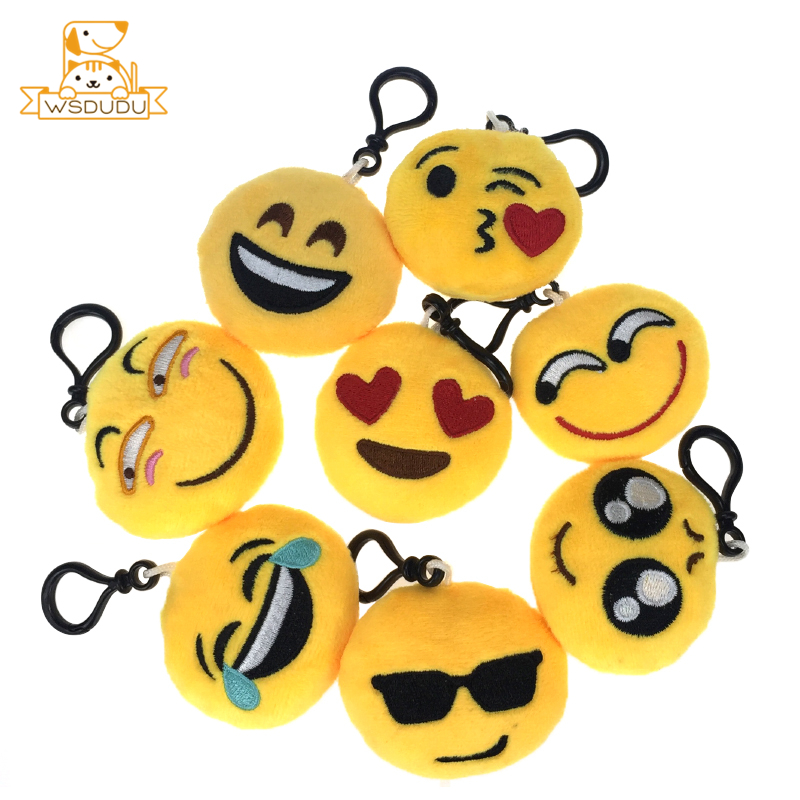 Cute Poop Keychains Stuffed Toys Kawaii Cartoon Tears Happy Face Expression Mini Dolls Adorable Cry Laugh Plush Pendant Gift Fun