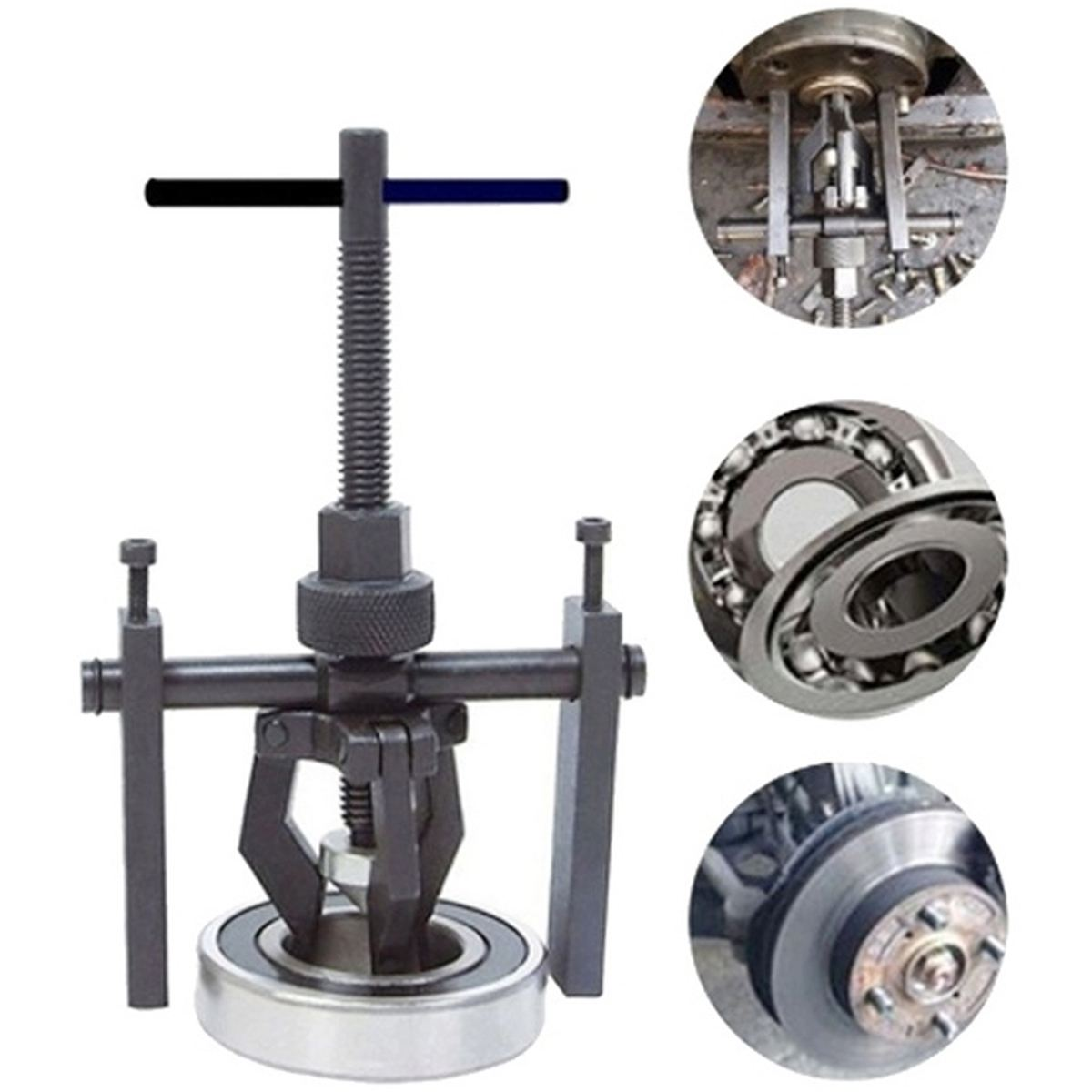 Car Auto Steel 3-jaw Inner Bearing Puller Gear Extractor Heavy Duty Automotive Machine Tool Kit