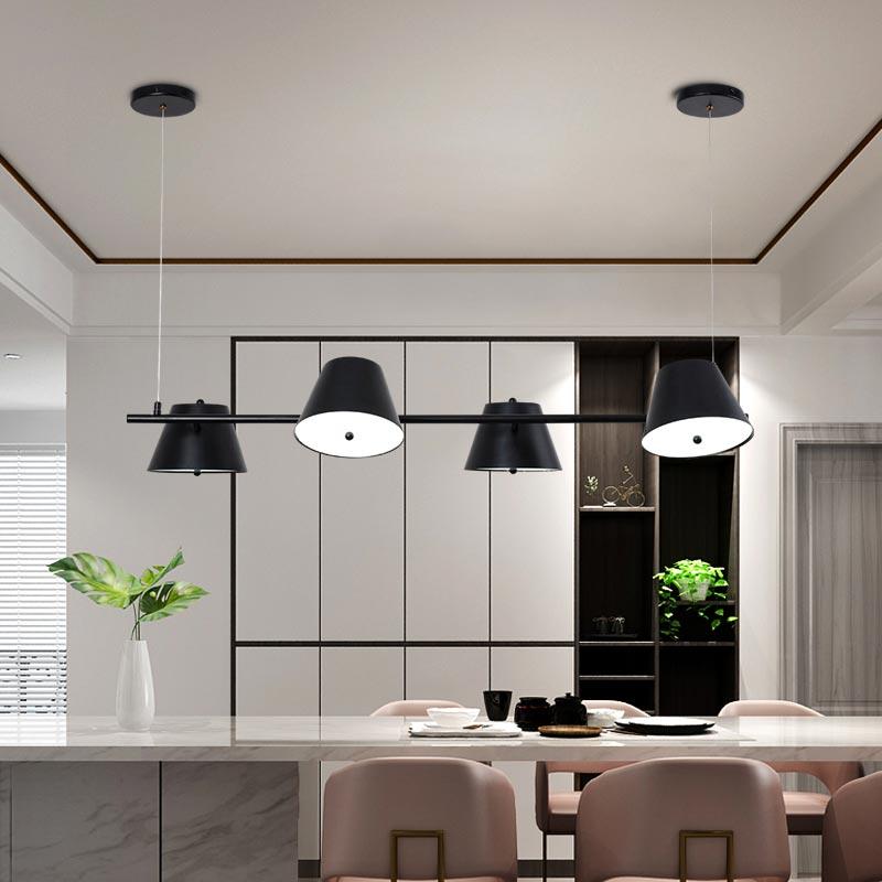 Nordic โคมไฟ LED สีดำ Luster ห้องนั่งเล่นโคมไฟห้องรับประทานอาหารห้องครัวออกแบบตกแต่งภายในบ้านโลหะ-ใน โคมไฟระย้า จาก ไฟและระบบไฟ บน title=