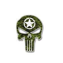 방수 육군 해골 스타 커버 흠집 컬러 자동차 스티커 및 범퍼 창 액세서리 인테리어 스티커 KK16 * 8cm