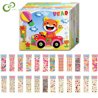 15Pcs/set 3D EVA Foam Sticker Puzzle Game DIY Cartoon Animal Learning Education Toys For Children Kids Multi-patterns Styles YJN
