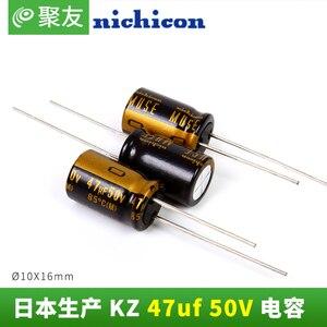 Image 3 - 10PCS ใหม่ NICHICON MUSE KZ 47UF 50V 10X16 มม.50V47UF Nichicon KZ 47 UF/ 50V 47UF50V PCM5