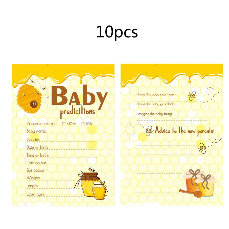 10 Pack Baby Predictions And Advice Cards - Baby Shower Games Ideas For Boy Girl Party Activities Supplies