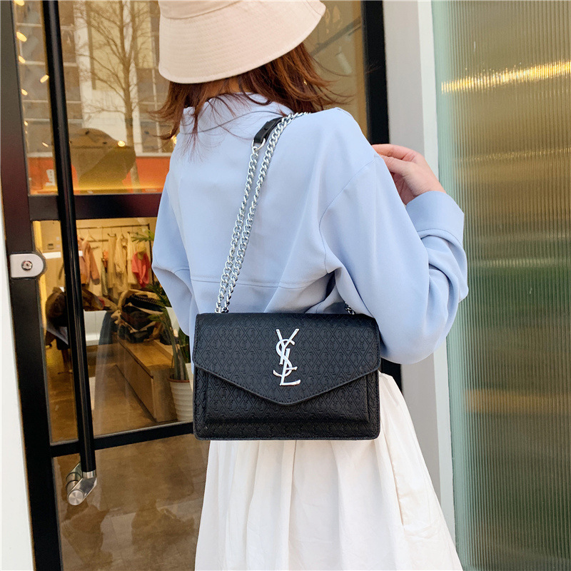 Bag Female 2020 New Wave Spring And Summer Fashion Small Ck Diagonal Female Bag Chain Embossed Small Square Bag