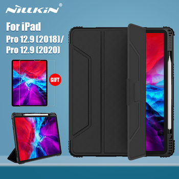 NILLKIN For iPad Pro 11 case 2020 Magnetic PU Leather Flip Cover PC back cover smart for iPad Pro 12 9 case 2020 with Protector labato smart case for ipad 9 7 inch 2017 case pu leather luxury quality magnet smart cover for ipad 5 6 9 7 2017 fold flip cover