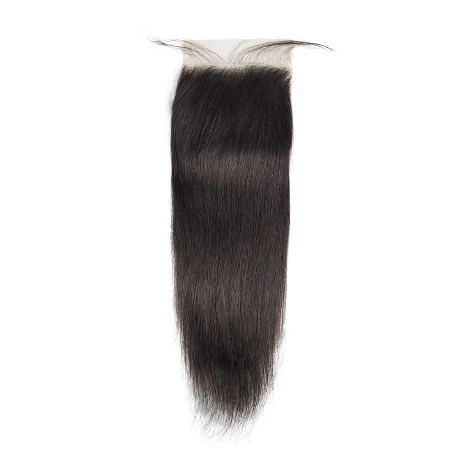 Pacotes de extensão do cabelo brasileiro 8 a 30 40 polegada feixes de cabelo humano com fechamento não-remy natural em linha reta curto tecer cabelo
