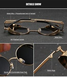 Image 4 - Мужские и женские солнцезащитные очки RoyalHot, круглые поляризационные очки в ретро оправе, затемненные очки для вождения, p1008