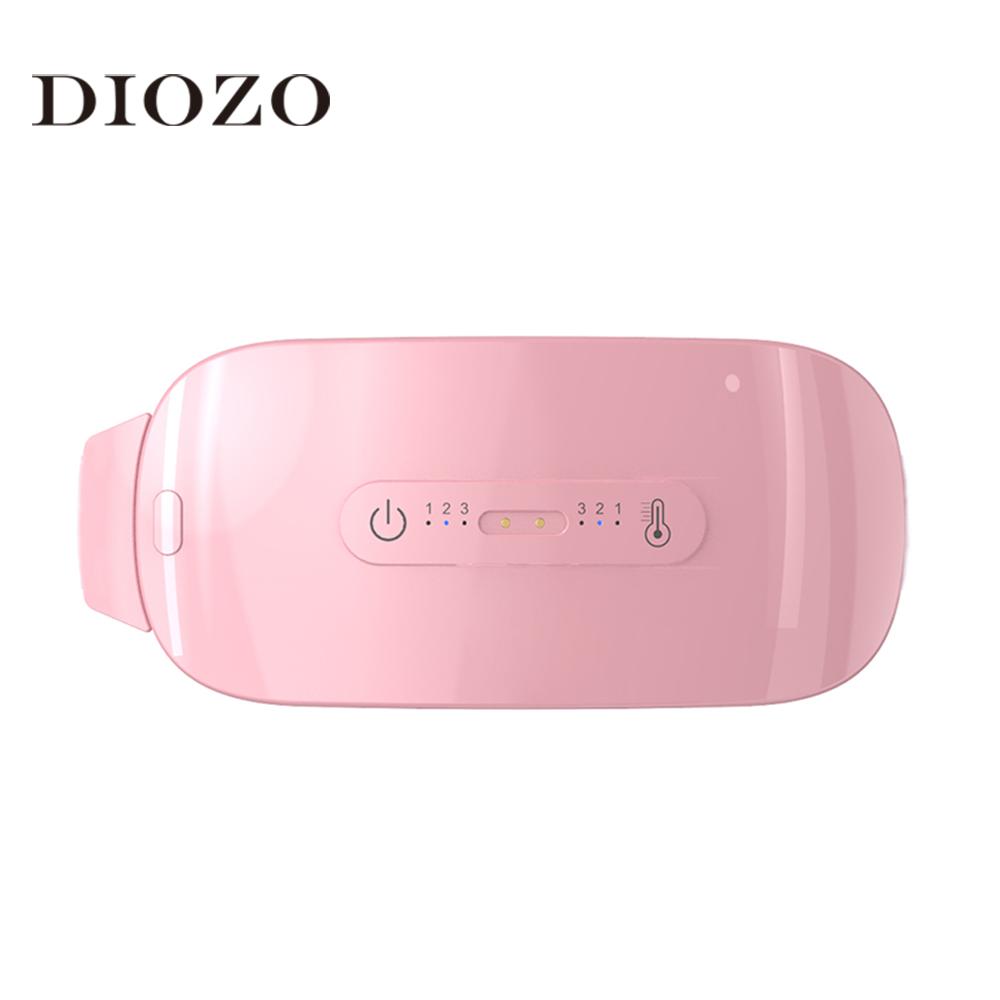 Diozo aquecimento infravermelho quente palácio cinto de vibração massagem cintura proteção aliviar a dor menstrual