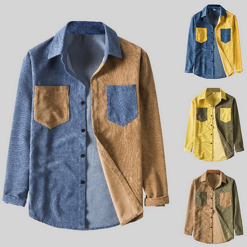 Men Shirts 2020 Spring And Autumn Fashion Brand Japan Style Vintage Slim Fit Corduroy Shirt Male Casual Slim Shirt Clothes