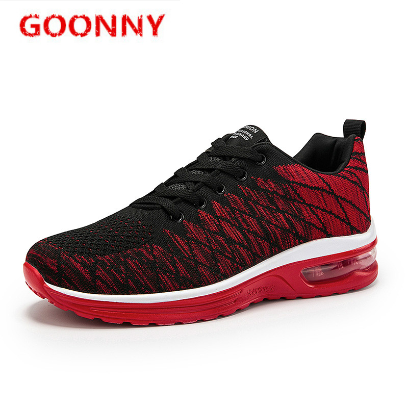 Shoes Men Running Shoes For Men Sport Shoes Black Shock Absorbing Casual Shoes Air Cushion Sneakers Flying Woven Shoes Trainers