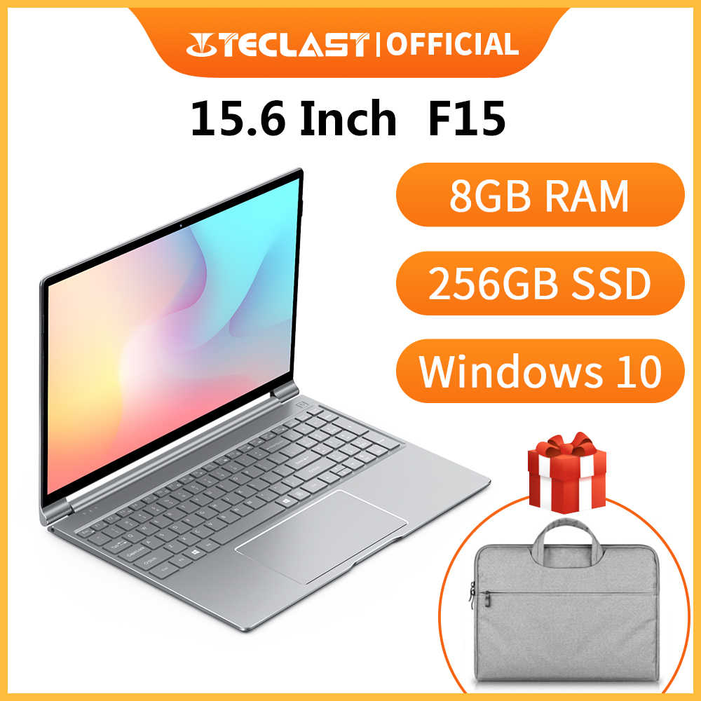 Mới Nhất Teclast F15 Laptop Windows 10 OS 15.6 Inch 1920X1080 DDR4 Ram 8GB SSD 256GB Intel n4100 Quad Core Hdmi Laptop