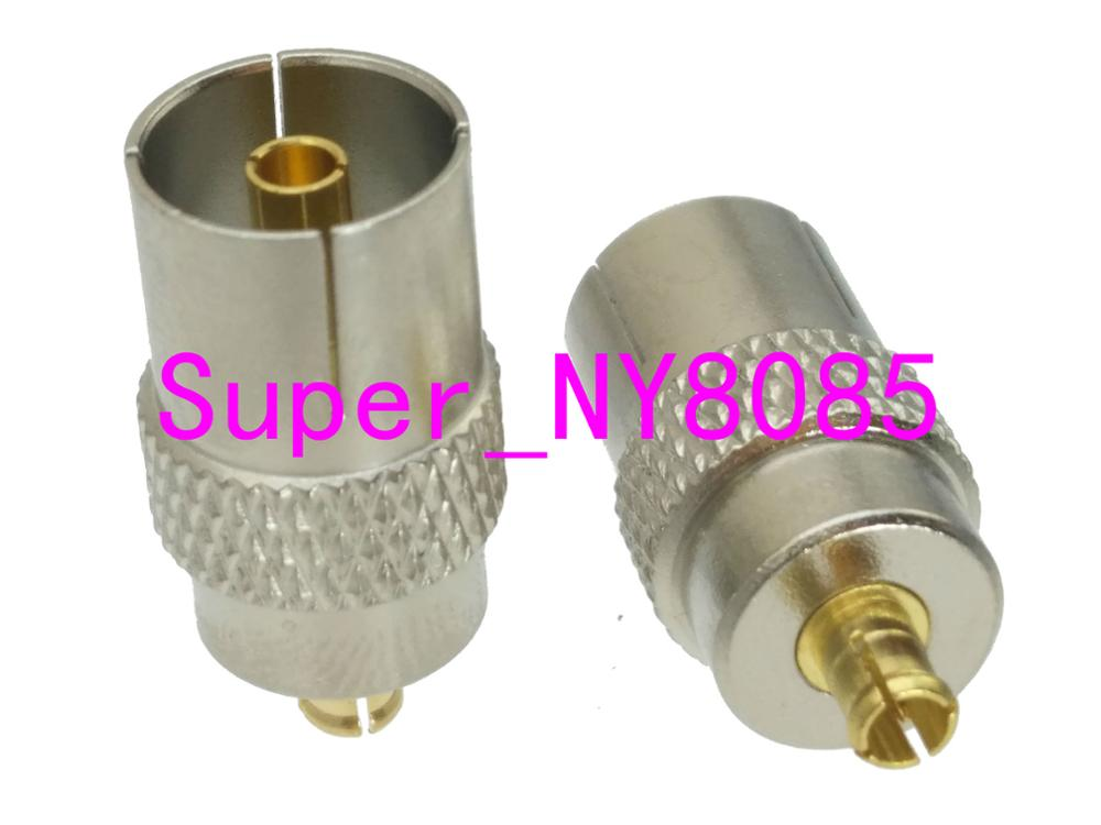 1pce IEC DVB-T TV PAL Female Jack To MCX Male Plug RF Adapter Connector 75ohm