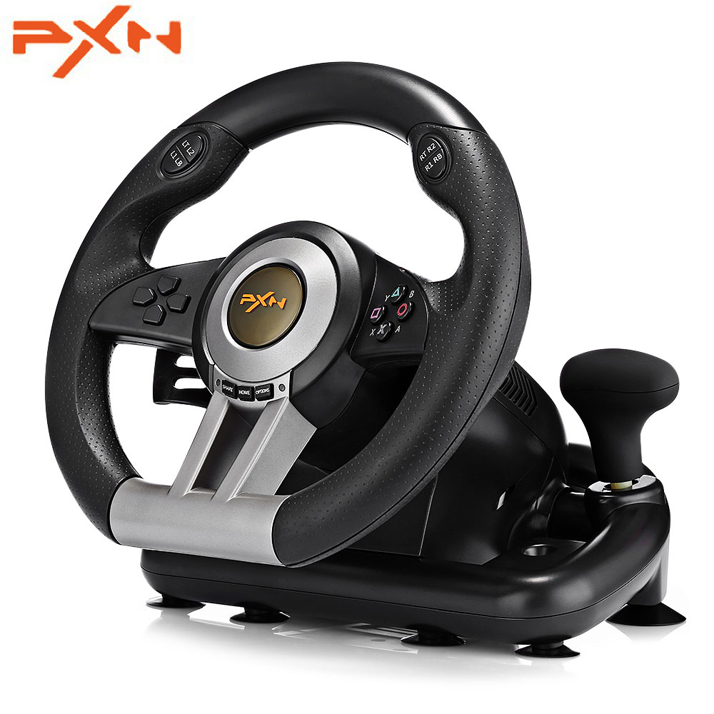PXN V3II Racing Game Pad 180 Degree Steering Wheel With Foldable Pedal For PC PS3 PS4 Xbox One All-in-one Vibration Joysticks image