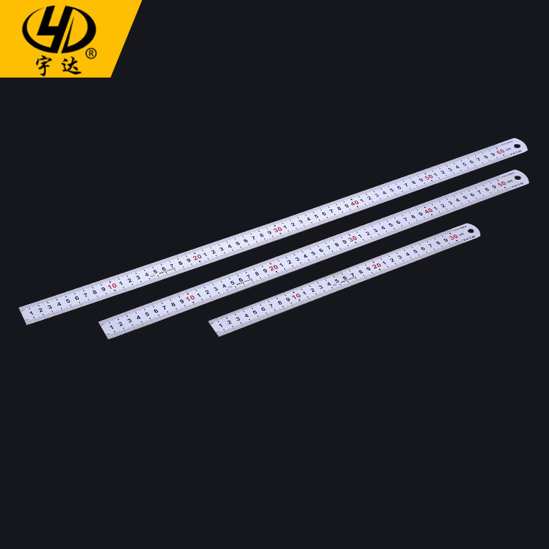 Wholesale Stainless Steel Ruler Measuring Ruler Steel Ruler Measuring Implement 30cm-1 Meter Stick Wide Thick Steel Rulers Scale