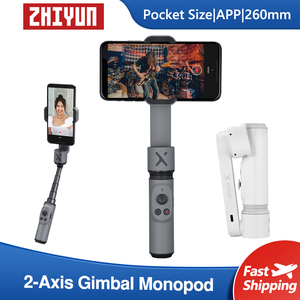 Image 1 - ZHIYUN السلس X Selfie عصا مع 2 محور Gimbal بالو الهاتف الذكي Monopod يده استقرار آيفون هواوي سامسونج