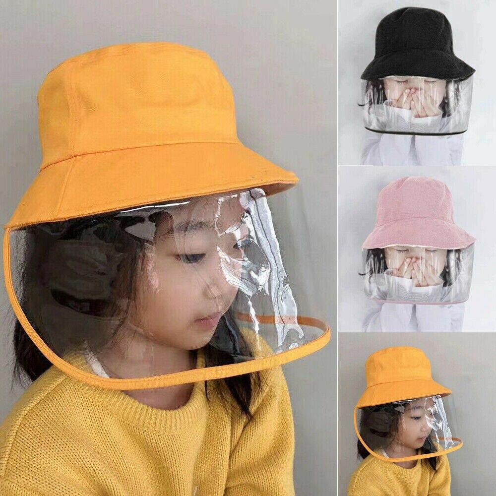 Anti saliva  Dust proof Kid Anti spitting Protective Cap Cover Outdoor Fisherman Hat Splash Proof Unisex|  - title=