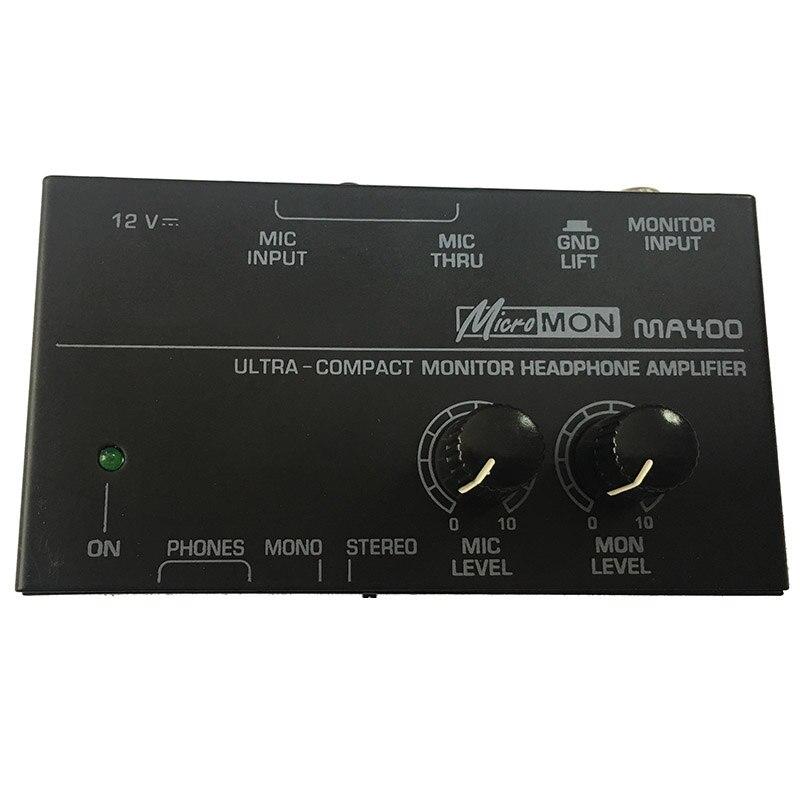 Ma400 Headphone Preamplifier Microphone Preamplifier Headphone Preamplifier Personal Monitor Mixer,Eu Plug - ANKUX Tech Co., Ltd