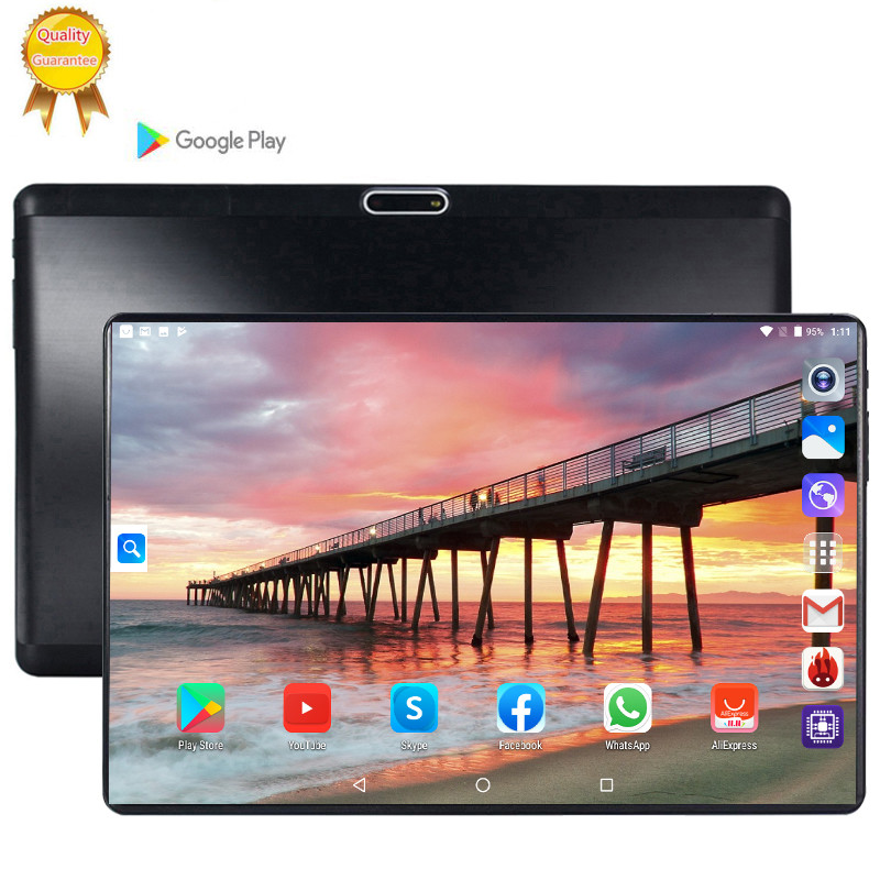 Tablette Pc 128G Global Bluetooth Wifi Android 9.0 10.1 Inch Tablet Octa Core 3G LTE 6GB RAM 128GB ROM 2.5D Screen Tablets Pc