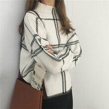 2019 jesień zima nowa chusta swetry swetry damskie eleganckie grzywny z dzianiny z dzianiny z golfem z długim rękawem swetry damskie swetry Mujer