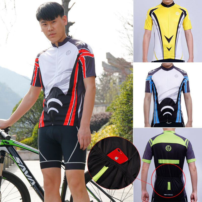 Men/'s Cycling Jersey Clothing Bicycle Sportswear Short Sleeve Mtb Bike Top Shirt