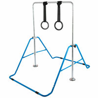 Kids Gymnastics Bar with Flying Rings Gloves Adjustable Folding Horizontal Bar Pull Up Expandable Junior Training Bar for Kids|Personal Care Appliance Parts|   -