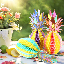 3pcs Paper Pineapple Hanging Decorations Colorful Table Decoration for Wedding Home Decor New Dropshipping